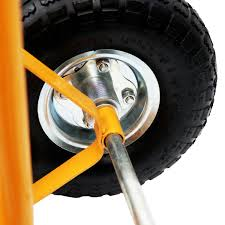 100 Heavy Duty Truck Wheels 600lb Industrial Hand Trolley Sack Yellow Intended