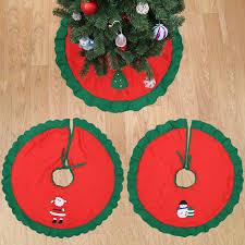 PMYUMAO Decoracion Navidad Christmas Decorations For Home Straight Edge 90CM 36inch Tree Skirt Aprons Xmas