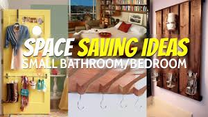 10 space saving ideas small bathroom and bedroom