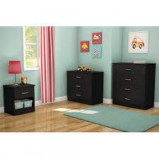 Black Dresser 3 Drawer by South Shore Smart Basics 3 Piece Dresser Set Black Shoptv