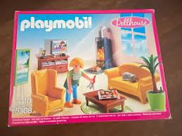 playmobil 5308 wohnzimmer mit kaminofen puppenhaus