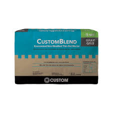 Tile Adhesive Mat Vs Thinset by Custom Building Products Customblend Gray 50 Lb Standard Thinset