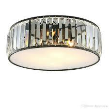 großhandel celling lights kristall moderne schwarze bronze deckenleuchte kristall deckenleuchte für wohnzimmer badezimmer schlafzimmer e14 acryl le