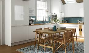 elaborately patterned kitchen floor tile design as a focal point