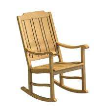 Natural White Oak Wood Outdoor Rocking Chair