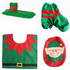Christmas Red Bathroom Rugs by 3pcs Happy Santa Snowman Bathroom Toilet Seat Cover Rug Set