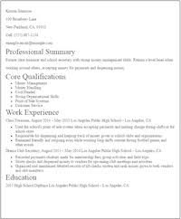 No Experience Cashier Resume Sample