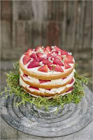 Naked Strawberry Wedding Cakenaked Cakerustic Cake