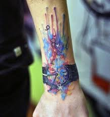Cool Watch Forearm Tattoos