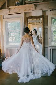 Watters Jacinda Dress Real Bride Marianmade Farm Maine Barn
