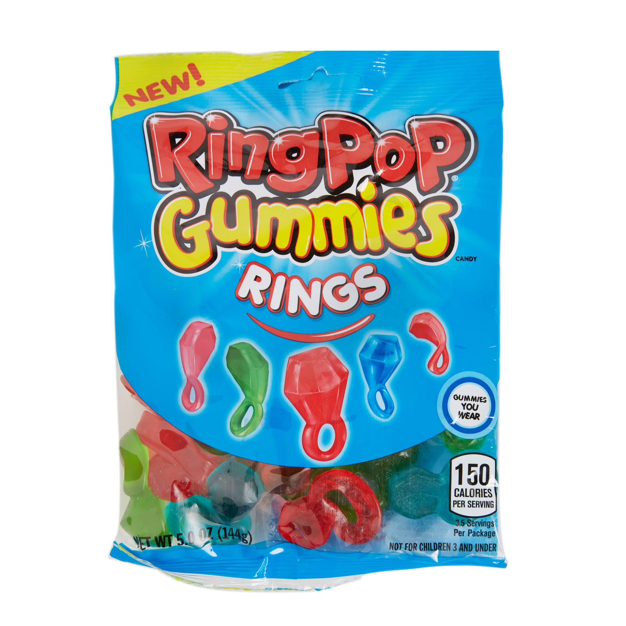Ring Pop Gummies Rings Candy - 6oz