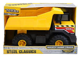 Amazon.com: Tonka Classic Steel Mighty Dump Truck Vehicle: Toys ... Metal Tonka Dump Truck Google Search Childhood Memories Vintage Metal Tonka Trucks Truck Pictures Mighty Toy Crane 1960s To 1970s Youtube Large Yellow Metal Tonka Toys Tipper Truck 51966 Model 2900 Mighty 2 Dump Trucks And With Fords F750 The Road Is Your Sandbox Steel Classic Loader Toys R Us Australia Join The Fun Vintage Super Hot Wheels Blog Fire Tiny Semi Low Boy Trailer Bulldozer Profit