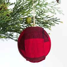 DIY Red Buffalo Plaid Christmas Ornament