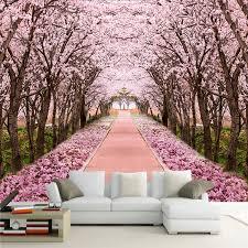 custom foto tapete 3d romantische kirschblüte baum wandbild wohnzimmer tv sofa hintergrund wand malerei fresko papel de parede