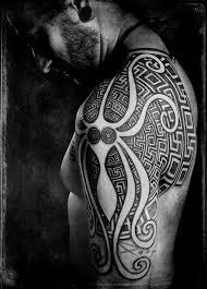 Geometric And Ocean Octopus Tattoos