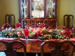 Decorating Dining Table Top Enchanting Christmas Room Centerpieces