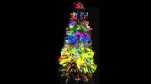 Fibre Optic Christmas Trees Uk by Fibre Optic Scots Pine Artifical Christmas Tree Youtube