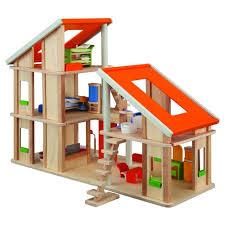 la maison du jouet plantoys jouets en bois maison chalet meublée achat vente