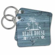 100 Weatherboard House Designs 3dRose Key Chains Beach Design In White Paint On Blue Not Real Wood Set Of 4 225 X 225 Kc_261816_2