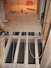 Building A Timberframe Home From Scratch Radiant Tubing Under How To Install Plywood Floor