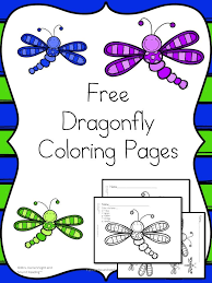 Cute Free And Fun Dragonfly Coloring Pages For Preschool Or Kindergarten Age Children Color By Letter Page Included