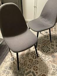 2 stühle esszimmer küche dänisches bettenlager stuhl grau schwarz