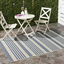 Zipcode Design Kirts Blue Beige Indoor Outdoor Area Rug & Reviews