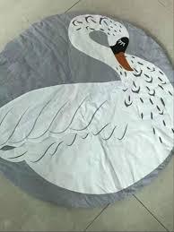 Cute Owl Car Floor Mats by Aliexpress Com Buy 95cm Baby Play Mat Swan Baby Blanket Winter
