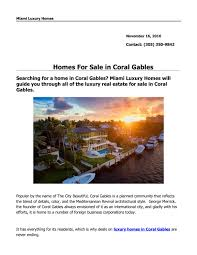 100 Houses For Sale Merrick Homes In Coral Gables By Miami Luxury Homes Issuu