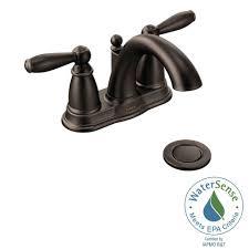 Moen Kingsley 2 Handle Bathroom Faucet by Moen Rubbed Bronze Bathroom Faucets