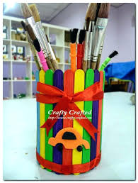 Craft Projects Using Recycled Materials Material Crafts Kids Preschool Crafty Crafted For