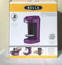 Bella Coffee Maker One Cup Also Purple Den En With For Frame Stunning Single Reviews 525