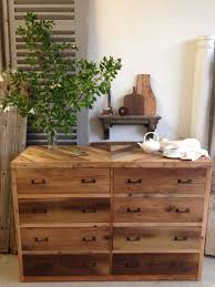 Beautiful Reclaimed Wood Dresser For Interiors Wonderful With Indoor Plant Decor And