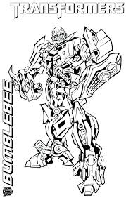 Transformers Coloring Pages Bumblebee Transformer Free Animated Sheets