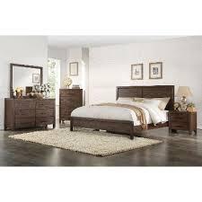 Brown Rustic Contemporary 6 Piece King Bedroom Set Dillon