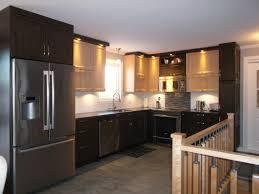 armoire de cuisine stratifié cuisine de style contemporain 2 couleurs armoires en polyester