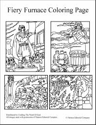 Marvelous Fiery Furnace Coloring Page Printable With Maker