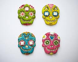 Easy Sugar Skull Day Of by Painted Sugar Skull Cookies Tutorial Cakegirls