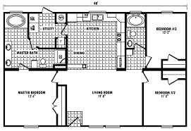 Fleetwood Triple Wide Mobile Home Floor Plans by Cedar Bluff 32 X 48 1440 Sqft Mobile Home Factory Expo Home Centers