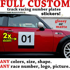 100 Custom Stickers For Trucks Full Track Racing Number Plates Decals Kanjostyle Stikers