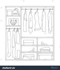 Decorative Clothes Rack Australia by Clothes Racks With Dresses On Hangers Flat Style Vector