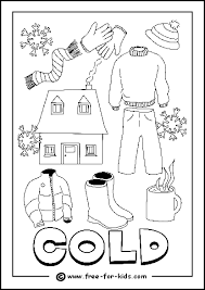 Image Of Cold Day Colouring Page