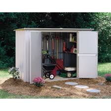 Suncast Outdoor Vertical Storage Shed by Deck Storage Find Outdoor Storage Options At Sears Sears Patio
