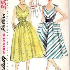 Simplicity 4309 Sewing Pattern Retro 50s Garden Tea Dress Loose