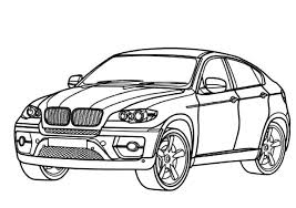 BMW Car X6 Colouring Page Coloring