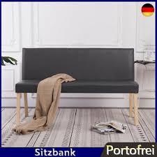 sitzbank mit rückenlehne kunstleder polsterbank esszimmer