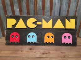 Namco Outdoor Furniture Nz by Pac Man Video Game Wood Sign Wall Art Gaming Signs