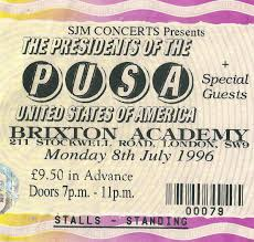 Smashing Pumpkins Acoustic Tour Setlist by 1996 Presidents Of The United States Of America Pusa Concerts