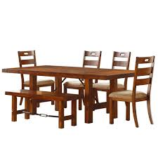 100 6 Oak Dining Table With Chairs HomeSullivan Honea Piece Vintage Set4025159PC The