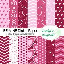 Pink Valentine Digital Paper Heart Backgrounds Di Scrapbooking